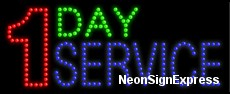 1 Day Service LED Sign