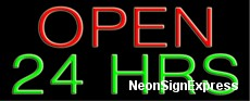 Neon Sign - OPEN 24 HRS
