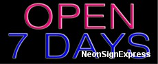 Neon Sign - OPEN 7 DAYS