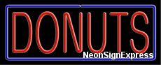 Neon Sign - DONUTS