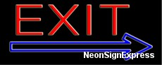 Neon Sign - EXIT