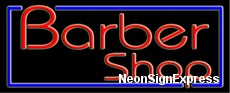 Neon Sign - BARBERSHOP