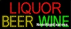 Liquor Beer Wine LED Sign