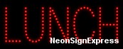 Lunch LED Sign