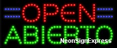 Open Abierto LED Sign