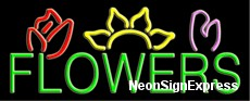 Neon Sign - FLOWERS