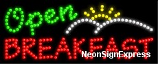 Open Breakfast LED Sign