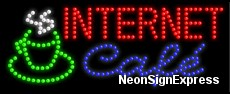 Internet Cafe LED Sign