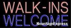 Neon Sign - WALK-INS WELCOME