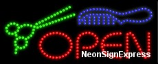 Open (scizzor,comb) LED Sign