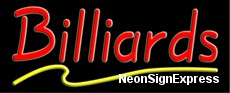 Neon Sign - BILLIARDS
