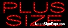 Plus Size LED Sign