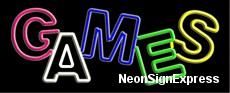 Neon Sign - GAMES