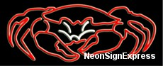 Crab Seafood logo Neon Sign