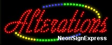 Alterations LED Sign