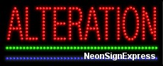 Alteration LED Sign