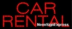 Car Rental LED Sign