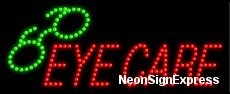 Eye Care, Logo LED Sign