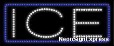 Ice LED Sign