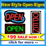 New Arrival Open Signs