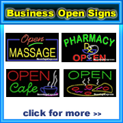 Open Signs by Business
