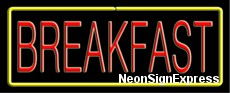 Neon Sign - BREAKFAST