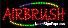 Airbrush LED Sign