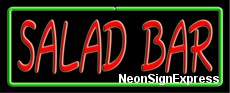 Neon Sign - SALAD BAR