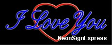 Neon Sign - I LOVE YOU