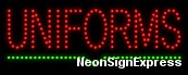 Uniforms LED Sign
