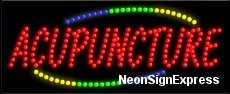 Acupuncture LED Sign