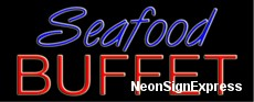 Seafood Buffet Neon Sign