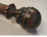 Decorative Pole Set - Manor Wood Beaded Ball