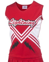 Youth Shout Cheer Shell w/Trim & Contrast Sides Teamwork 1061