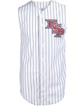 Adult Sleeveless Pinstripe Poly Jersey Teamwork 1752B