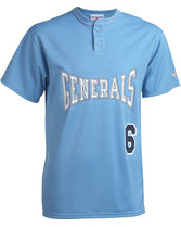 Adult Shut Out Diamond Core Mesh 2-Button Jersey Teamwork 1758P