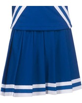 Youth Pleated Cheer Skirt With 3 Stripe Trim Teamwork 4064