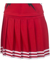 Youth Pleated Cheer Skirt With 5 Stripe Trim Teamwork 4065