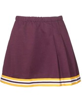 Youth 3-Pleat Cheer Skirt With Trim Teamwork 4080