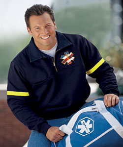 The Firefighter's Work Shirt With Reflective Tape Made in USA
