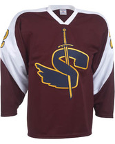 Adult Slap Shot Hockey Jersey w/Contrast Shoulders Teamwork 1527