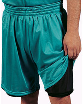 "Youth 2-Ply 7"" Inseam Mini Mesh Short Teamwork 4417"