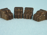 SET of 4 brass plated paw feet <NOBR>(ca. 1930s)</NOBR>