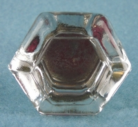 Single large glass knob with brass base (7754)
