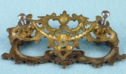 PAIR large cast brass drawer pulls, circa 1900
