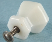 White glass face cut knob (7 available) (1053)