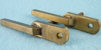 PAIR screw-in brass drawer pulls, circa 1920s