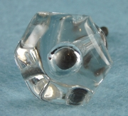Pressed glass knob (3 available) (1019)