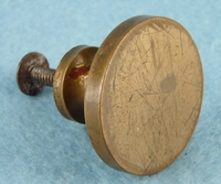 Heavy machined brass knob (3 available) (1108)