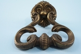 PAIR large cast brass drawer pulls, circa 1940s